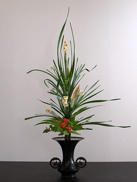 古典立花 水仙、せんりょう、著莪
