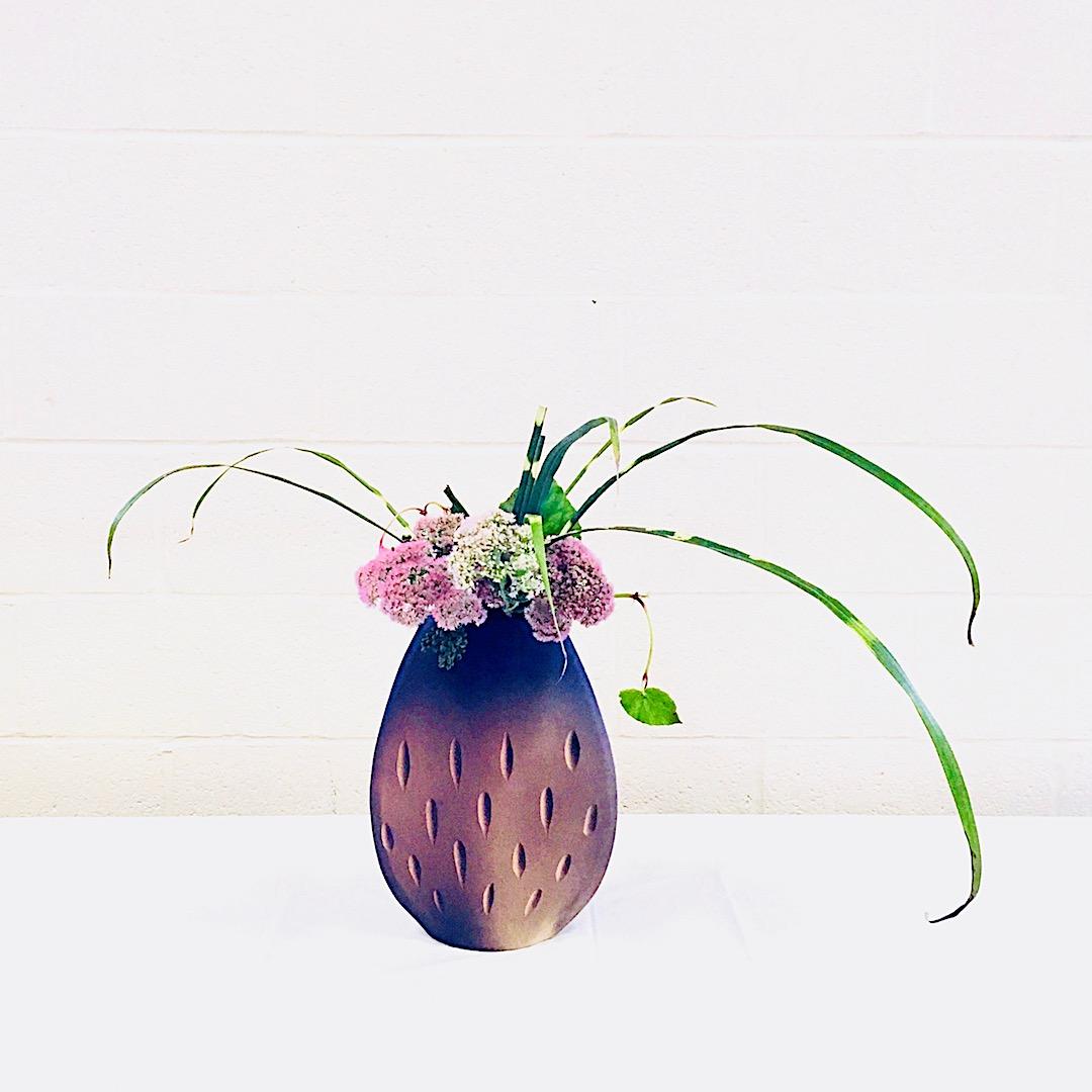 自由花 セダム、秋海棠、プリペット、すすき