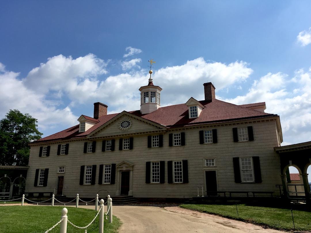 初代アメリカ合衆国大統領ジョージ・ワシントンさんのお家