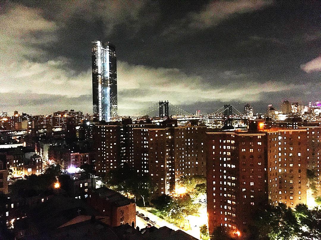 お世話してくださったニューヨーク支部野田支部長宅からの夜景
